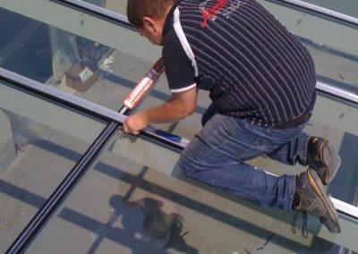 Copertura veranda vetro e alluminio