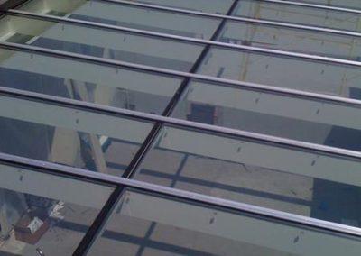 Tetto veranda in alluminio con vetro temperato selettivo